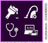 set of 4 tools filled icons... | Shutterstock .eps vector #1118388053