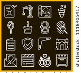set of 16 other outline icons... | Shutterstock .eps vector #1118405417