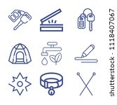 set of 9 tool outline icons... | Shutterstock .eps vector #1118407067