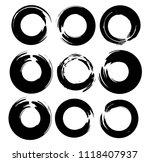 grunge vector circles. brush... | Shutterstock .eps vector #1118407937
