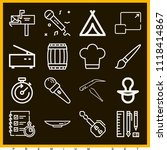set of 16 tool outline icons... | Shutterstock .eps vector #1118414867