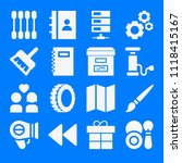 set of 16 other filled icons... | Shutterstock .eps vector #1118415167