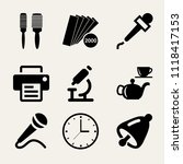 set of 9 tools filled icons... | Shutterstock .eps vector #1118417153