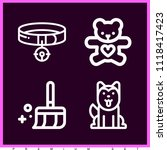 set of 4 animals outline icons... | Shutterstock .eps vector #1118417423