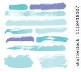 brush strokes vector set... | Shutterstock .eps vector #1118418107
