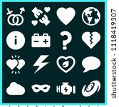 set of 16 shapes filled icons... | Shutterstock .eps vector #1118419307
