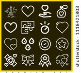 set of 16 shapes outline icons... | Shutterstock .eps vector #1118421803