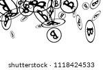 randomly fall bitcoins. bitcoin ... | Shutterstock .eps vector #1118424533