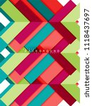 multicolored abstract geometric ... | Shutterstock .eps vector #1118437697