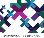 multicolored abstract geometric ... | Shutterstock .eps vector #1118437703