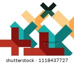 multicolored abstract geometric ... | Shutterstock .eps vector #1118437727