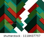 multicolored abstract geometric ... | Shutterstock .eps vector #1118437757