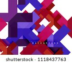 multicolored abstract geometric ... | Shutterstock .eps vector #1118437763