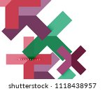 multicolored abstract geometric ... | Shutterstock .eps vector #1118438957