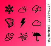 vector icon set about weather... | Shutterstock .eps vector #1118441237