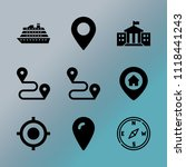 vector icon set about location... | Shutterstock .eps vector #1118441243
