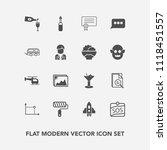 modern  simple vector icon set... | Shutterstock .eps vector #1118451557