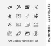 modern  simple vector icon set... | Shutterstock .eps vector #1118451563