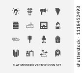 modern  simple vector icon set... | Shutterstock .eps vector #1118452493