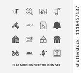 modern  simple vector icon set... | Shutterstock .eps vector #1118457137