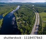 highway parallel to hudson river | Shutterstock . vector #1118457863