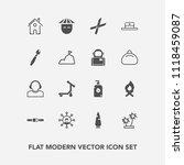 modern  simple vector icon set... | Shutterstock .eps vector #1118459087