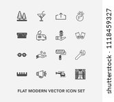 modern  simple vector icon set... | Shutterstock .eps vector #1118459327