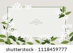 vector jasmine flower banners.... | Shutterstock .eps vector #1118459777