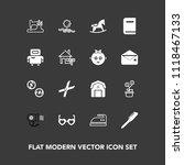 modern  simple vector icon set... | Shutterstock .eps vector #1118467133