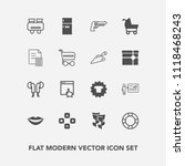 modern  simple vector icon set... | Shutterstock .eps vector #1118468243