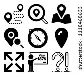 vector icon set  about location ... | Shutterstock .eps vector #1118468633
