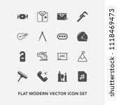 modern  simple vector icon set... | Shutterstock .eps vector #1118469473