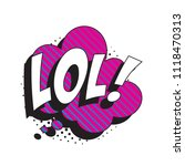 abbreviation lol   laugh out... | Shutterstock .eps vector #1118470313