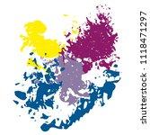 vector color brush spots ... | Shutterstock .eps vector #1118471297