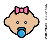 simple  flat  colorful baby... | Shutterstock .eps vector #1118546837