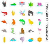 exotic beast icons set. cartoon ... | Shutterstock . vector #1118549567
