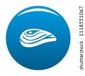 aquatic shell icon. simple... | Shutterstock . vector #1118551067