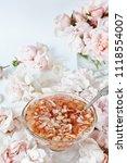 jam from roses  delicate pink....   Shutterstock . vector #1118554007