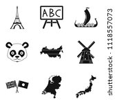 geographic region icons set.... | Shutterstock . vector #1118557073