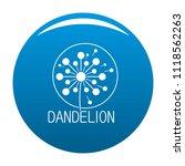 faded dandelion logo icon....   Shutterstock . vector #1118562263