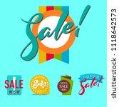 super sale extra bonus banners... | Shutterstock .eps vector #1118642573