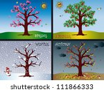 four seasons | Shutterstock . vector #111866333
