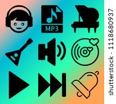 vector icon set  about music... | Shutterstock .eps vector #1118680937