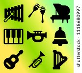 vector icon set  about music... | Shutterstock .eps vector #1118680997