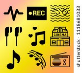 vector icon set  about music... | Shutterstock .eps vector #1118681033