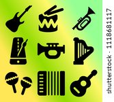 vector icon set  about music... | Shutterstock .eps vector #1118681117