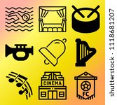 vector icon set  about music... | Shutterstock .eps vector #1118681207