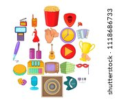 musical performance icons set.... | Shutterstock .eps vector #1118686733