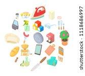facilities icons set. cartoon...   Shutterstock .eps vector #1118686997