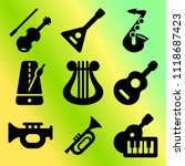 vector icon set  about music... | Shutterstock .eps vector #1118687423